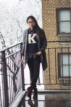 Choies coat - H&M boots - PacSun jeans - Keds sweater