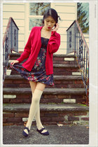 American Rag dress - Forever 21 socks - vintage cardigan