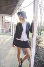 Black-sam-edelman-shoes-black-vintage-hat-black-pacsun-jacket
