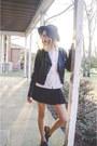 Black-sam-edelman-shoes-black-vintage-hat-black-pacsun-jacket