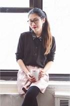 H&M blouse - H&M socks - Old Navy skirt