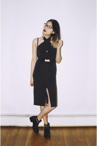 black Zara boots - CN direct dress