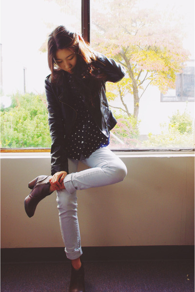 Sheinside jacket - My Hot Shoes boots - PacSun pants