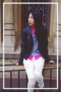 Pacsun-jeans-sheinside-jacket-old-navy-sweater-h-m-bag-zara-wedges