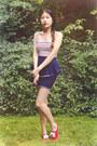 Blue-motel-rocks-top-white-material-girl-skirt-hot-pink-keds-sneakers