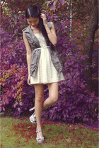 Sammy dress vest - Forever 21 dress - Pink & Pepper heels - Rire bracelet