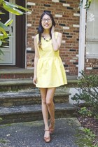 yellow Zlz dress - shoplately necklace