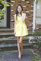 yellow Zlz dress - shoplately necklace