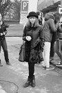 Black-funky-shoes-boots-black-new-yorker-coat-black-gate-hat