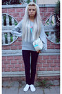 White-topshop-shoes-black-levis-jeans-aquamarine-necklace-silver-only-jum