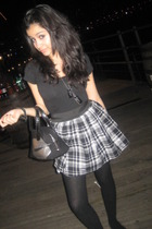 Forever 21 skirt - Victorias Secret purse - shirt