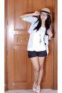White-forever-21-shirt-blue-hongkong-blazer-white-bought-online-shoes-blac