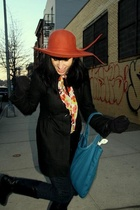 forever 21 hat - Delias coat - forever 21 scarf - shoes