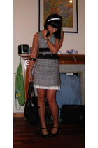 colour eighteen dress - Topshop shoes - Prada purse - accessories