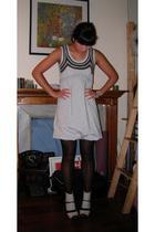 dress - tights - Chloe shoes