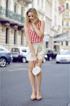 felicee shorts - motelrocks shirt - BCBG bag - Zara heels