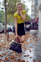 Zara shirt - Louis Vuitton bag - H&M skirt - Miu Miu heels