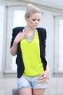 H-m-blazer-zara-shirt-zara-shorts-morgan-heels-vintage-accessories