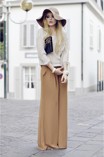H&M hat - romwe sweater - Lodis bag - Isabel Lu pants - Sal y Limon bracelet