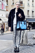 Zara pants - motelrocks coat - Zara shirt - Fabi heels