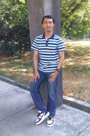 nike air shoes nike boots - Gap jeans - Topman shirt - dark brown ODM watch