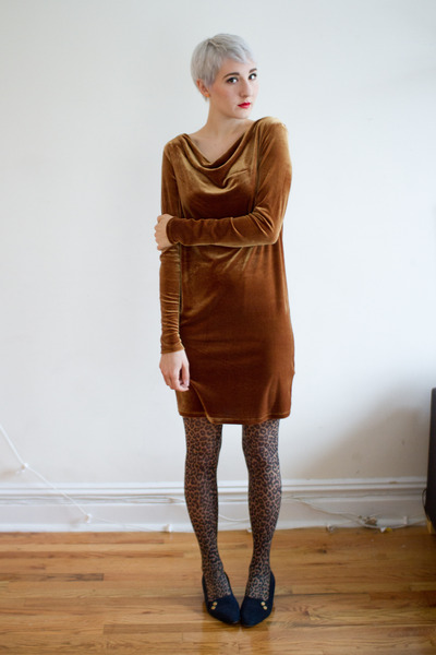 vintage shoes - Joe Fresh dress - asos tights