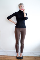 Joe Fresh sweater - gift pants - vintage flats