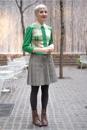 vintage skirt - vintage cardigan