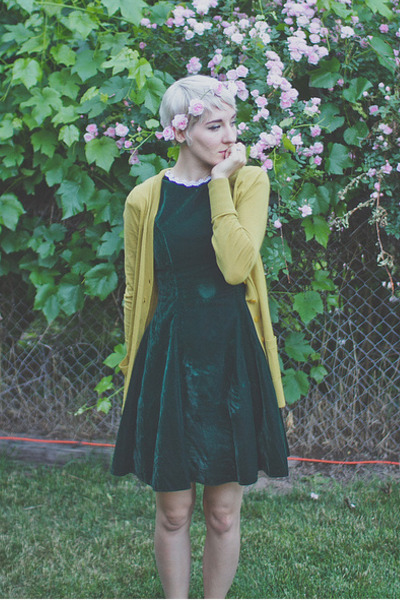 last chance cardigan - Vintage Thrifted dress