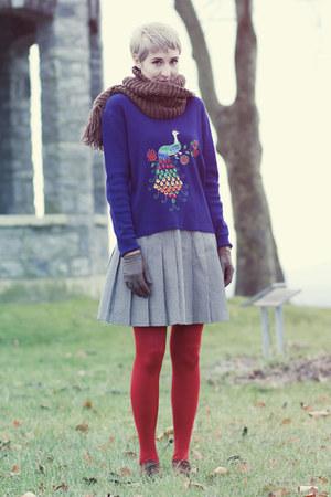 vintage sweater - gift scarf - vintage gloves - vintage skirt