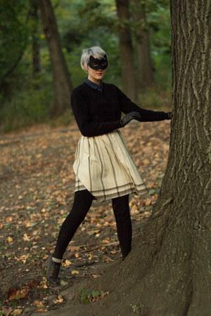 vintage gloves - thrifted vintage shoes - thrifted vintage sweater