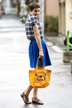 mister donut bag - thrifted shirt - thrifted skirt