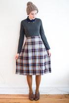 vintage skirt - gift hat - Joe Fresh tights - asos blouse