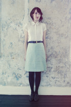 vintage skirt - vintage shoes - vintage blouse