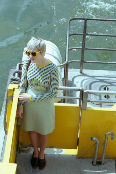 Joe Fresh sweater - Ebay sunglasses - vintage skirt