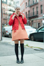 Vintage-shoes-thrifted-dress-anthropologie-jacket-3-coins-socks