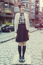vintage sweater - Japan socks - vintage skirt - Japan blouse