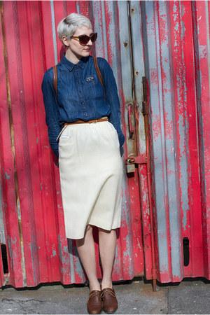 Joe Fresh blouse - Vintage Thrifted skirt