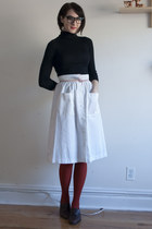 vintage skirt - vintage shoes - Joe Fresh sweater - We Love Colors tights