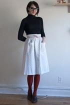 vintage skirt - vintage shoes - Joe Fresh sweater - We Love Colors tights