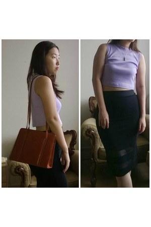 new look skirt - vintage bag - asos top