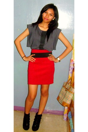 f21 skirt - f21 shoes - maldita top - random brand shoes
