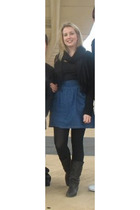 Sportsgirl top - supre jacket - Myer accessories - supre skirt - boots