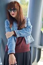 Black-leather-unknown-brand-boots-light-blue-denim-jacket-more-more-jacket