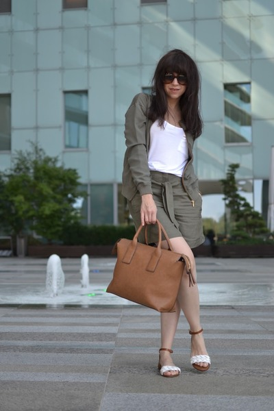 tawny Parfois bag - army green more & more blazer