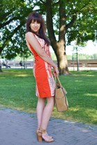 carrot orange more & more dress - light brown Parfois bag