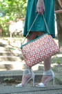 White-parfois-bag-carrot-orange-koton-top-teal-more-more-skirt