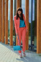 coral more & more suit - turquoise blue Chantall bag - turquoise blue Mango top