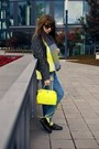 Blue-denim-zara-jeans-gray-jacket-zara-jacket-yellow-pullover-zara-sweater
