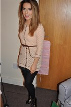 Topshop cardigan - Kurt Geiger boots - River Island tights